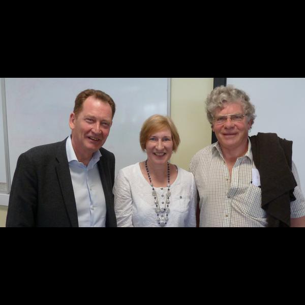 Sir Graham Watson, Sue Knowles Devizes Constituency Chair and Alexander Kirk-Wilson Marlborough Town Councillor