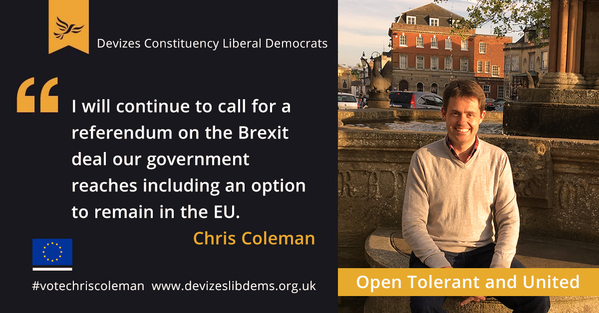 I will continue to call for a referendum on the Brexit deal our government reaches including an option to remain in the EU