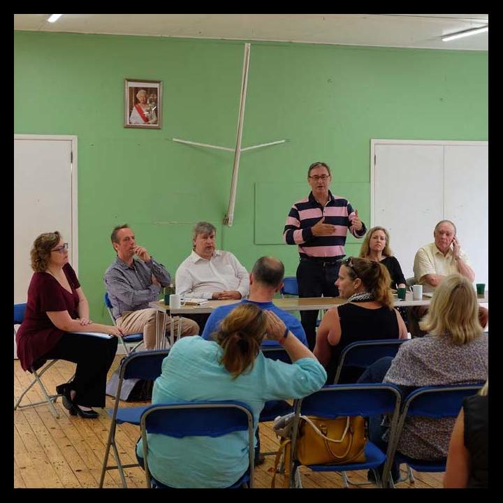 Jo Waltham, Cllr Ian Thorn, Cllr Jon Hubbard, Cllr James Sheppard (speaking), Cllr Jane Davies, Cllr Nick Fogg