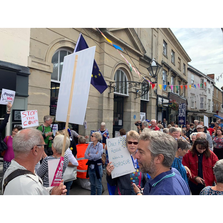 Protest in Devizes