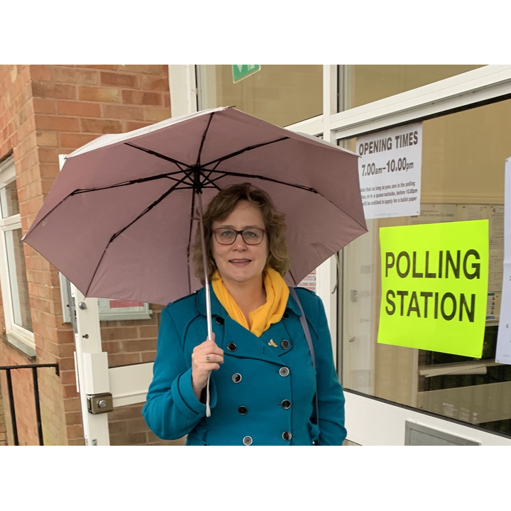 Jo Waltham at Polling Station