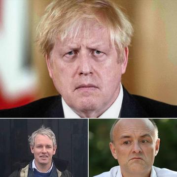 Boris Johnson, Danny Kruger and Dominic Cummings