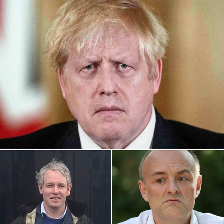 Boris Johnson, Danny Kruger and Dominic Cummings