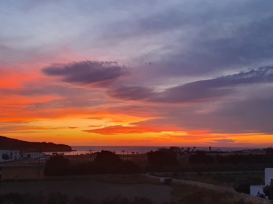 Antiparos sunset viewed from my flat
